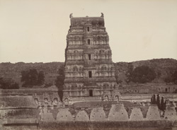 Beejanuggur. Lateral gateway of a temple. [Gopura of the Virupaksha Temple, Vijayanagara.]